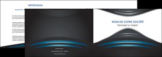 personnaliser modele de depliant 2 volets  4 pages  gris bleu couleurs froides MLIG62784