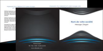 imprimer depliant 2 volets  4 pages  gris bleu couleurs froides MLIG62796