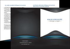 exemple depliant 2 volets  4 pages  gris bleu couleurs froides MLIG62806