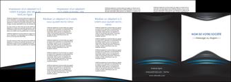 modele en ligne depliant 4 volets  8 pages  gris bleu couleurs froides MLIG62810