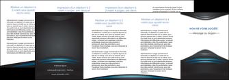 personnaliser maquette depliant 4 volets  8 pages  gris bleu couleurs froides MLIG62816