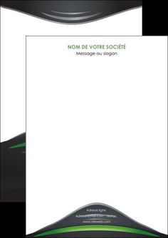 maquette en ligne a personnaliser flyers gris vert vintage MIF62820