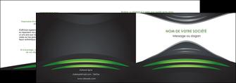 maquette en ligne a personnaliser depliant 2 volets  4 pages  gris vert vintage MIF62834