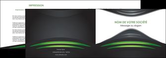 creation graphique en ligne depliant 2 volets  4 pages  gris vert vintage MIF62836