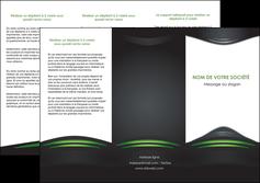 modele en ligne depliant 3 volets  6 pages  gris vert vintage MIF62844