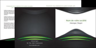 modele en ligne depliant 2 volets  4 pages  gris vert vintage MIF62848