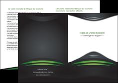 realiser depliant 2 volets  4 pages  gris vert vintage MIF62858