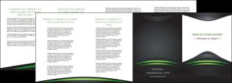imprimerie depliant 4 volets  8 pages  gris vert vintage MIF62862