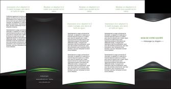 personnaliser modele de depliant 4 volets  8 pages  gris vert vintage MIF62866