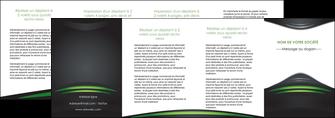 imprimerie depliant 4 volets  8 pages  gris vert vintage MIF62868