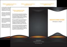 personnaliser modele de depliant 3 volets  6 pages  bijouterie gris or vintage MLGI62896