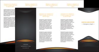 modele depliant 4 volets  8 pages  bijouterie gris or vintage MIF62918