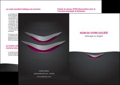 exemple depliant 2 volets  4 pages  gris gris fonce mat MIF63470