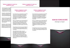 imprimerie depliant 3 volets  6 pages  gris gris fonce mat MIF63490