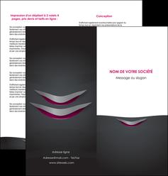 modele en ligne depliant 2 volets  4 pages  gris gris fonce mat MIF63492