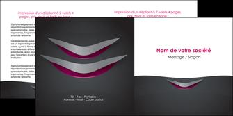 modele en ligne depliant 2 volets  4 pages  gris gris fonce mat MIF63494