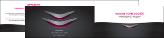 creation graphique en ligne depliant 2 volets  4 pages  gris gris fonce mat MIF63500