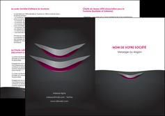 impression depliant 2 volets  4 pages  gris gris fonce mat MIF63504