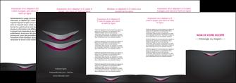exemple depliant 4 volets  8 pages  gris gris fonce mat MIF63506