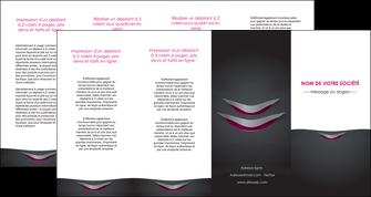 imprimer depliant 4 volets  8 pages  gris gris fonce mat MIF63510
