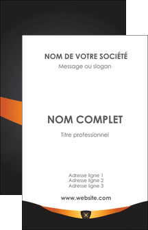 impression carte de visite web design noir simple professionnel MLIG63578