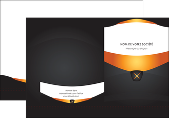 imprimer pochette a rabat web design noir simple professionnel MLIG63580
