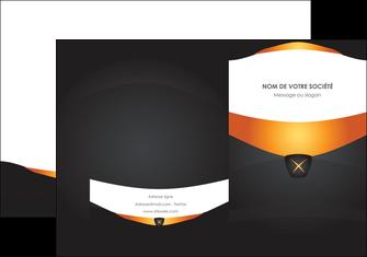 cree pochette a rabat web design noir simple professionnel MIF63582