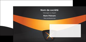 personnaliser modele de enveloppe web design noir simple professionnel MIF63606