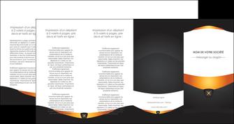 maquette en ligne a personnaliser depliant 4 volets  8 pages  web design noir simple professionnel MIF63614