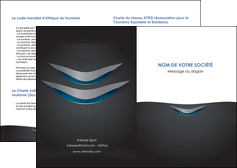 realiser depliant 2 volets  4 pages  gris gris fonce mat MIF63626