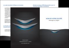 realiser depliant 2 volets  4 pages  gris gris fonce mat MLIG63626