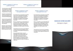imprimerie depliant 3 volets  6 pages  gris gris fonce mat MLIG63646