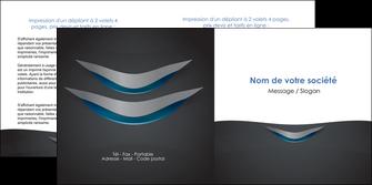 personnaliser modele de depliant 2 volets  4 pages  gris gris fonce mat MIF63650