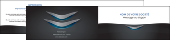 personnaliser modele de depliant 2 volets  4 pages  gris gris fonce mat MIF63656