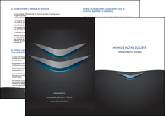impression depliant 2 volets  4 pages  gris gris fonce mat MIF63660