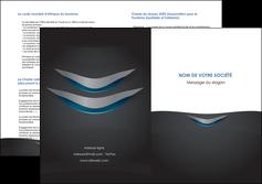 impression depliant 2 volets  4 pages  gris gris fonce mat MLIG63660