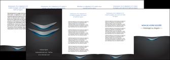 creation graphique en ligne depliant 4 volets  8 pages  gris gris fonce mat MIF63662