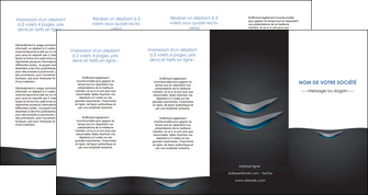 faire modele a imprimer depliant 4 volets  8 pages  gris gris fonce mat MIF63666