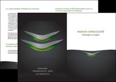 creer modele en ligne depliant 2 volets  4 pages  gris fond metallise MIF63730