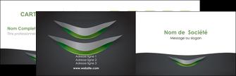 personnaliser maquette carte de visite gris fond metallise MIF63732