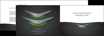 personnaliser modele de depliant 2 volets  4 pages  gris fond metallise MIF63740