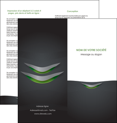 imprimerie depliant 2 volets  4 pages  gris fond metallise MIF63752