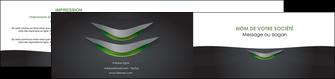 creation graphique en ligne depliant 2 volets  4 pages  gris fond metallise MLGI63760