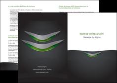 creation graphique en ligne depliant 2 volets  4 pages  gris fond metallise MLGI63764