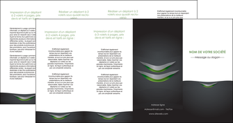 personnaliser modele de depliant 4 volets  8 pages  gris fond metallise MIF63770