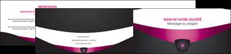 modele depliant 2 volets  4 pages  gris gris fonce mat MLGI63864