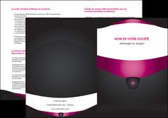 modele en ligne depliant 2 volets  4 pages  gris gris fonce mat MLGI63868