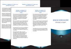 imprimerie depliant 3 volets  6 pages  gris gris fonce mat MLGI63924