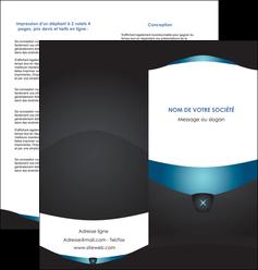modele depliant 2 volets  4 pages  gris gris fonce mat MLGI63926