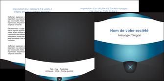 modele depliant 2 volets  4 pages  gris gris fonce mat MLGI63928